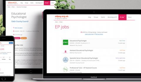Jobs for EPs on edpsy: our latest feature
